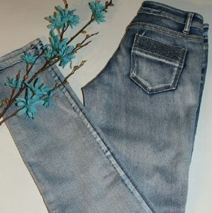 bamboo Denim - Bamboo light washed skinny jeans