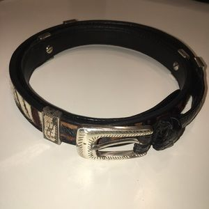 Brighton Accessories - Brighton Calf Hair and Leopard Belt Leather