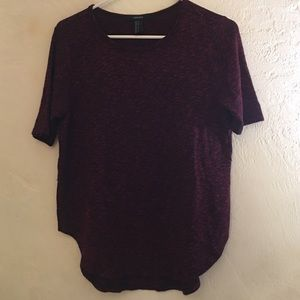Forever 21 Marled Red short sleeve shirt top