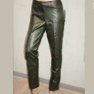 89th & Madison Pants - 89th and Madison foil metallic diamond pants