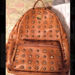 MCM Other - BRAND NEW MCM Studded Stark leather backpack !