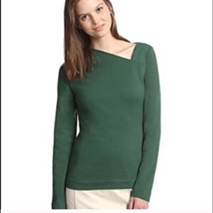 kate spade Sweaters - Kate Spade Saturday Slant Neck Top in Pine Green