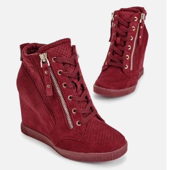 b58b6c4549 Cranberry Wedge Sneakers