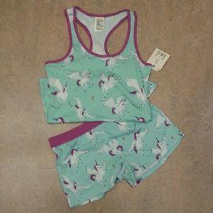 Pegasus-Unicorn print shortie pajama set