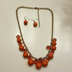Jewelry - Cute necklace and earing set.