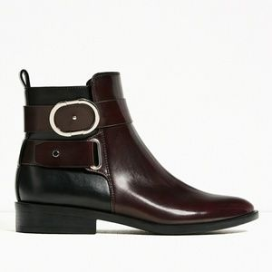 Zara Shoes - LEATHER ANKLE BOOTS BRAND NEW