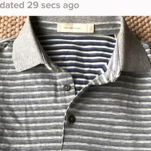 Ermenegildo Zegna Other - Ermenegildo Zegna Heather Gray/ Blue Polo Shirt