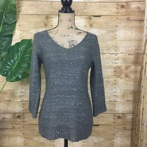 Max Studio Sweaters - Max Studio Gray Sweater with Sequins