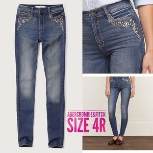 Abercrombie HighRise SuperSkinny Jeans 4R w27 L31