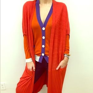 Zero + Maria Cornejo Jackets & Blazers - Zero+Maria Cornejo Orange Duster with pockets