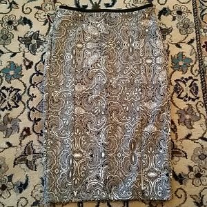 Express worn once pencil skirt, size 0