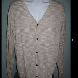 H & M Other - NWT Men's H & M beige marled cardigan sweater