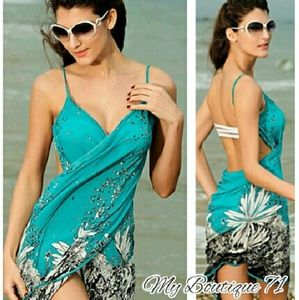 🐞HP🐞Jewel Toned Beach Sarong