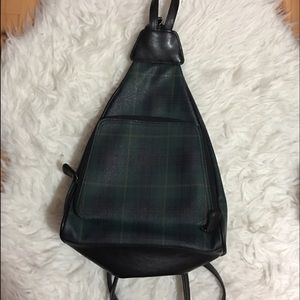 Vintage Plaid Leather BackPack