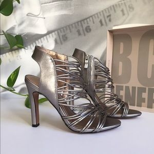 BCBGeneration Shoes - BCBGENERATION Silver Heels; size 5,5