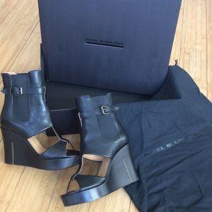Diesel Black Gold Shoes - Diesel Black Gold Shoes  Wedge Peep Toe Bootie NEW