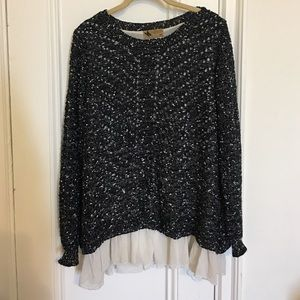 LF Stores Sweaters - Knitted sweater with chiffon slip underneath