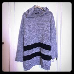 LF Stores Sweaters - Hooded rugby stripe sweater; never worn