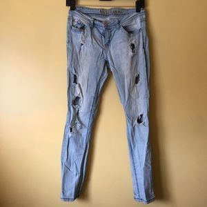 Wallflower Denim - Light Wash Destroyed Denim Jeans