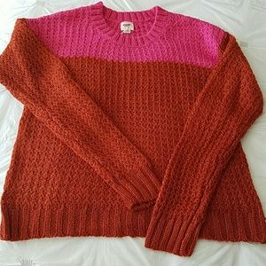 Large Mossimo Supply Company Colorblock Sweater