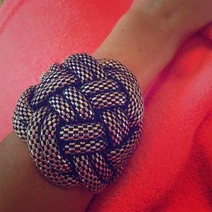 Jewelry - Metallic woven cuff bracelet