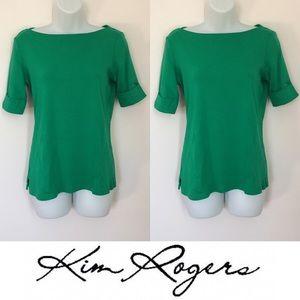 Kim Rogers Tops - 🍍CLEARANCE🍍 Kim Rogers Emerald 1/4 Sleeve Top