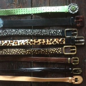 Accessories - Authentic leather belts.....Studs, designer, EUC