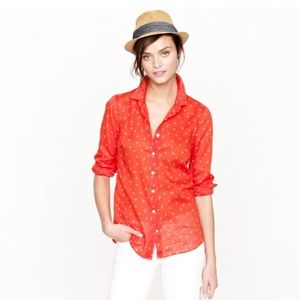 J. Crew Perfect Shirt in Anchors and Horseshoes