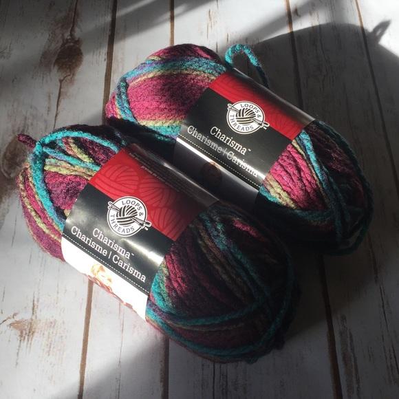 Loops & Threads Charisma yarn-mulberry NWT