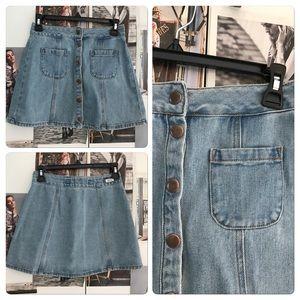 Brandy Melville Dresses & Skirts - Brandy Melville denim pocket skirt 24