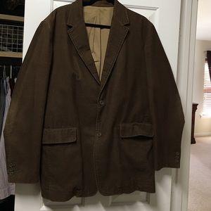 Men's J.Crew Large Cord Brown Sport Coat