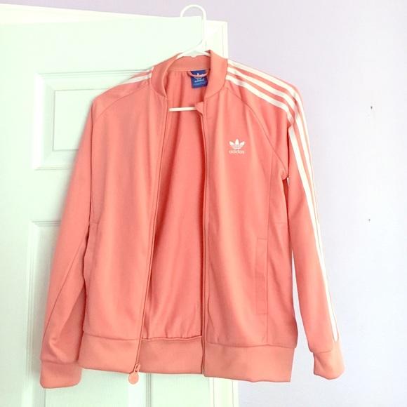 3dbfb8e2b7 Adidas 3-stripe pink jacket US M Junior