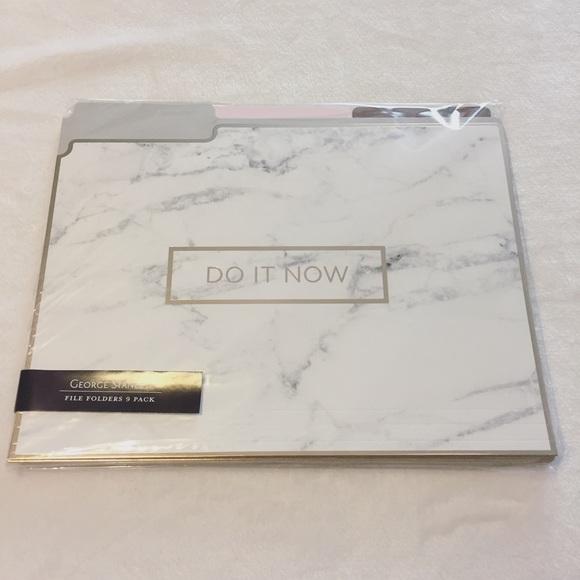 Marble File Folders NWT