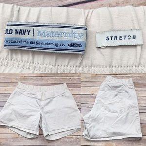 Size XL Old Navy Maternity Khaki Stretch Shorts