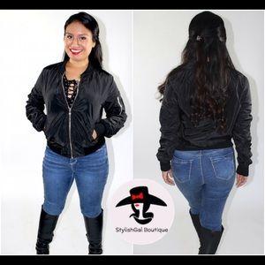 Jackets & Blazers - SUPERSALE🛍 Black Bomber Jacket