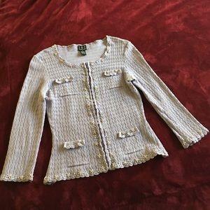 INC Top Sweater Full Zip S Light Lavender