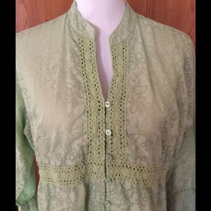A.L.C. Tops - A.L.C. Light green top with trim size Large