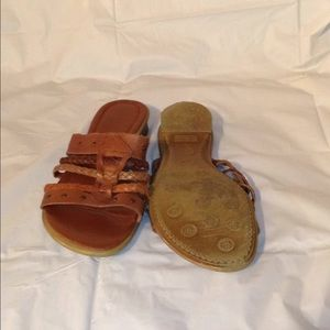 pesaro Shoes - PESARO BOHO GYPSY LEATHER FLAT SANDAL 7