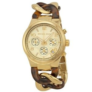 Michael Kors Accessories - Michael Kors Two-tone Twist Runway Watch