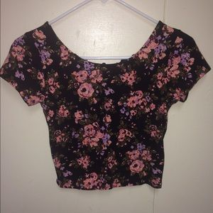Forever 21 floral crop top size XS