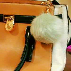 LOFT Accessories - ‼️SALE‼️Mint faux fur pom pom keychain