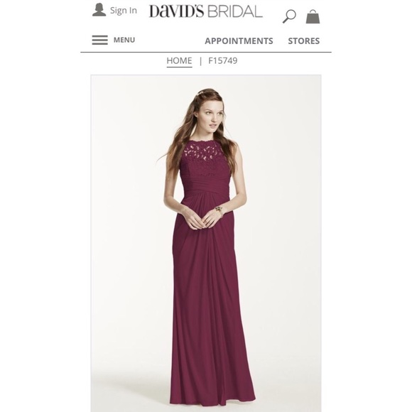 94363585b38 David s Bridal Bridesmaid Dress color plum size 14