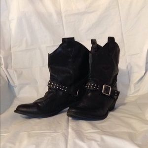 Mossimo Supply Co. Shoes - MOSSIMO BLACK STUDDED BOHO GYPSY MOTO BOOTS 7