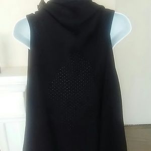 westbound Sweaters - Westbound Women Sleeveless Cardigan draped Vest