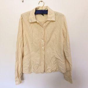 Lauren Ralph Lauren Tops - Ralph Lauren Pure Silk Button Up Shirt