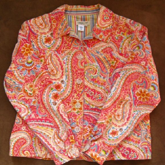Coldwater Creek Jackets & Blazers - Coldwater Creek Paisley Jean Jacket