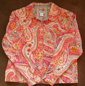 Coldwater Creek Paisley Jean Jacket