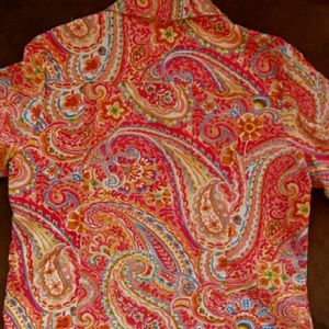 Coldwater Creek Jackets & Coats - Coldwater Creek Paisley Jean Jacket
