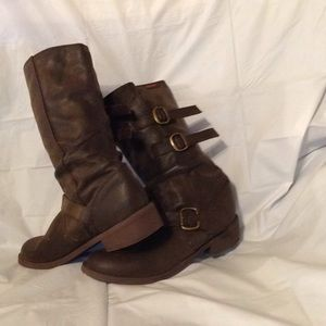 TALL BELTED MOTO RIDING BOOTS ROCKET DOG 6.5