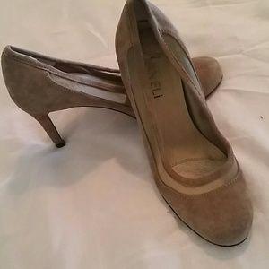 Vaneli Shoes - Camel suede heels
